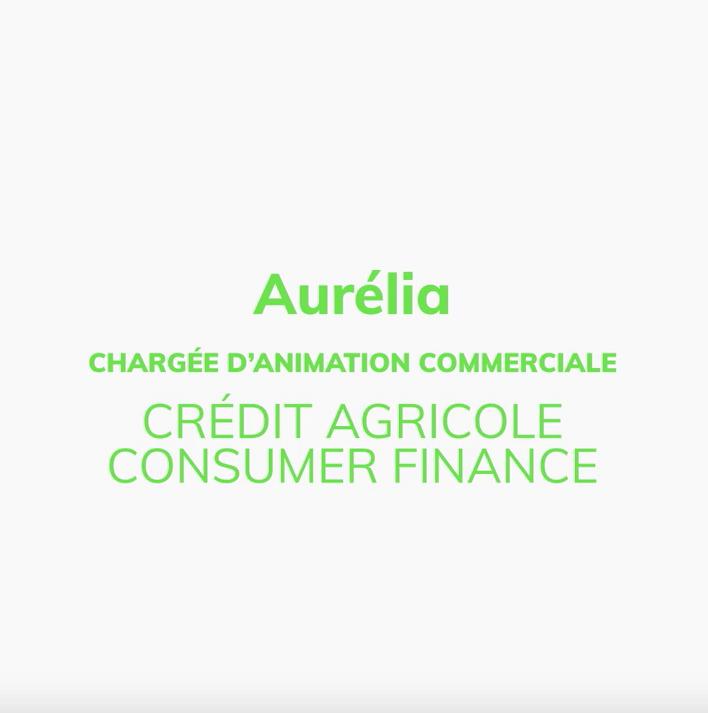 Aurélia, Chargée d'animation commerciale