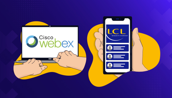 CA-GIP a déployé la solution Webex aux conseillers bancaires LCL
