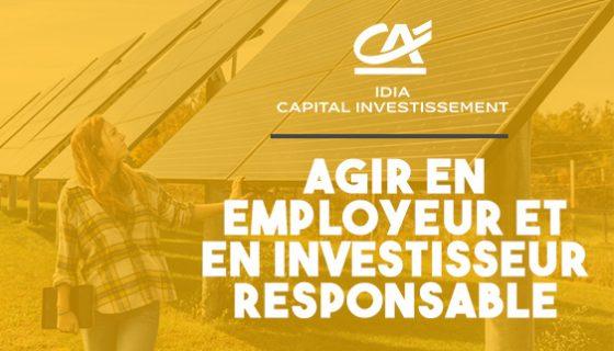IDIA Capital Investissement, investisseur et employeur responsable