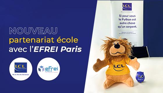 LCL signe un partenariat école avec l'EFREI Paris et s'engage à former les futurs experts du numérique !